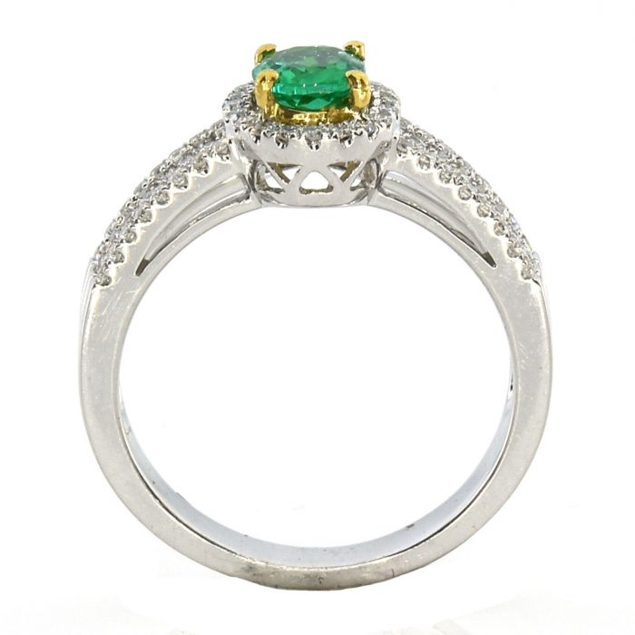 Real 082ct Natural Green Emerald Engagement Ring Oval 18K Gold G VS2 263781428865 3 700x700 - Real 0.82ct Natural Green Emerald Engagement Ring Oval 18K Gold G VS2