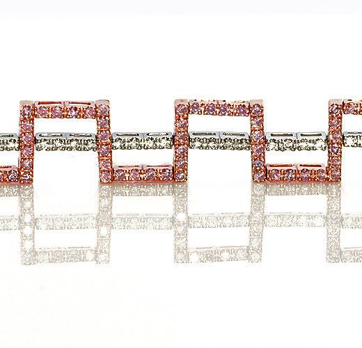 Real Pink Diamonds Bracelet 390ct Natural Fancy Pink Color 18K 25 Grams 263913095965 2 - Real Pink Diamonds - Bracelet 3.90ct Natural Fancy Pink Color 18K 25 Grams