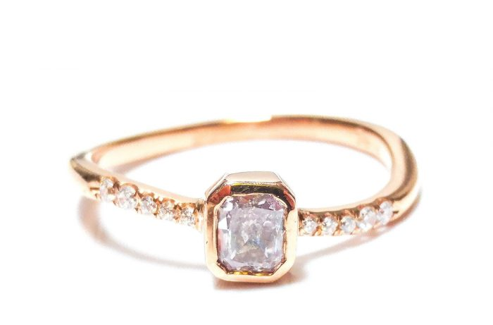 040ct Natural Fancy Light Pink Diamond Engagement Ring F VS1 18K VS2 Rose Gold 253693729976 700x461 - 0.40ct Natural Fancy Light Pink Diamond Engagement Ring F VS1 18K VS2 Rose Gold