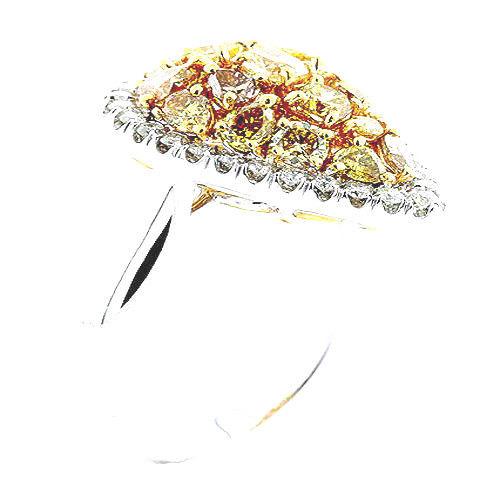 201ct Natural Fancy Intense Yellow Diamonds Engagement Ring 18K Yellow Gold 253670742476 2 - 2.01ct Natural Fancy Intense Yellow Diamonds Engagement Ring 18K Yellow Gold