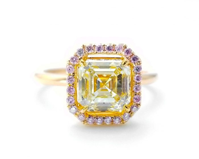 225ct Natural Fancy Pink Light Yellow Engagement Ring GIA Accsher 18K Gold VS 263781428826 700x559 - 2.25ct Natural Fancy Pink & Light Yellow Engagement Ring GIA Accsher 18K Gold VS