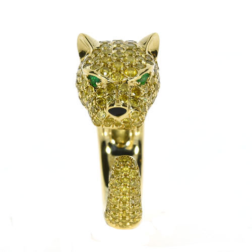 260ct Natural Fancy Yellow Diamonds Engagement Ring 18K Solid Gold 9G Tiger 263781428886 2 - 2.60ct Natural Fancy Yellow Diamonds Engagement Ring 18K Solid Gold 9G Tiger
