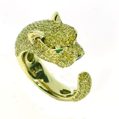 260ct Natural Fancy Yellow Diamonds Engagement Ring 18K Solid Gold 9G Tiger 263781428886 - 2.60ct Natural Fancy Yellow Diamonds Engagement Ring 18K Solid Gold 9G Tiger