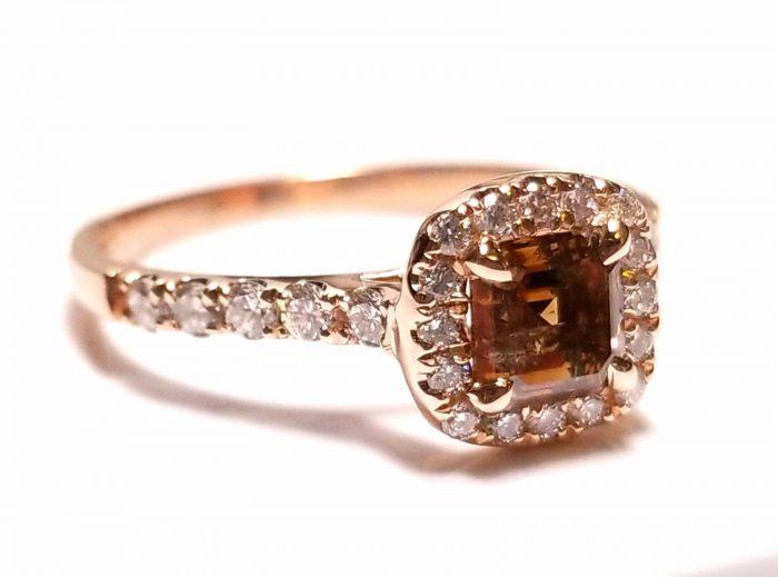 Real 108ct Natural Fancy Brown Diamonds Engagement Ring 14K Gold Emerald 253676205206 2 700x519 - Real 1.08ct Natural Fancy Brown Diamonds Engagement Ring 14K Gold Emerald