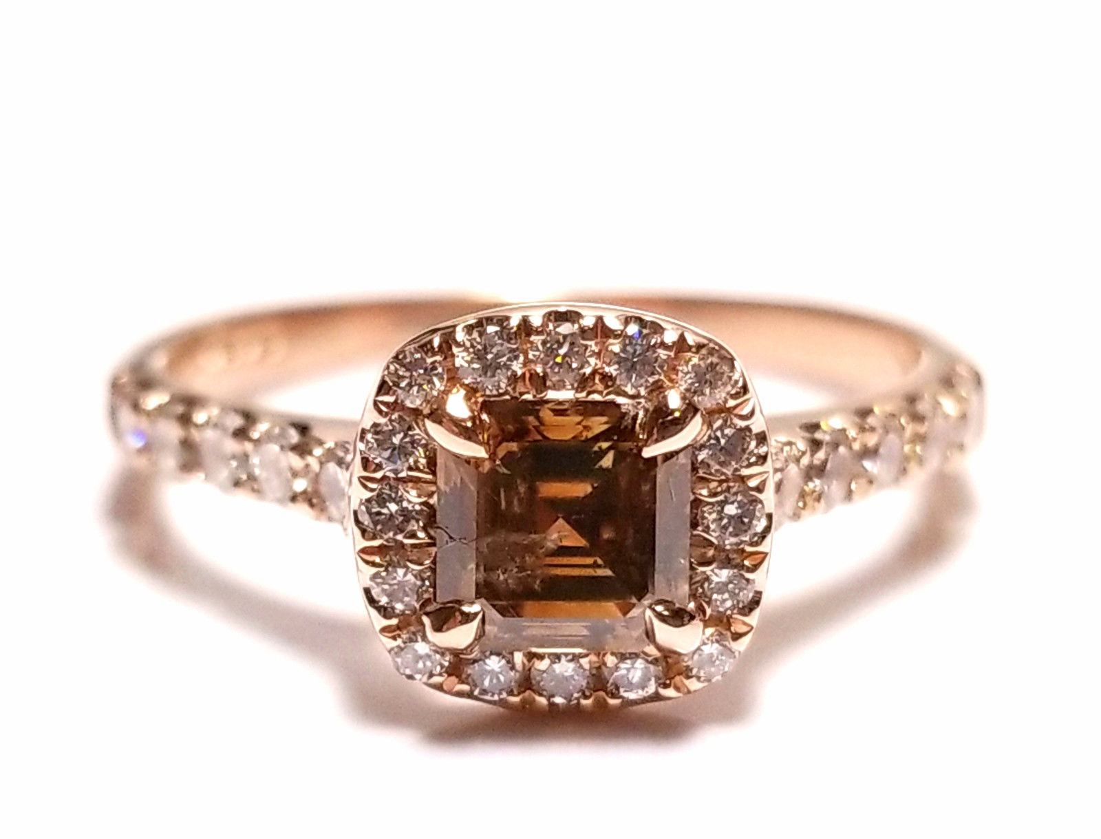 Real 1 08ct Natural Fancy Brown Diamonds Engagement Ring