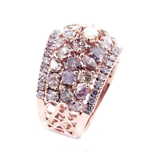 Real 462ct Natural Fancy Pink Diamonds Engagement Ring 18K Solid Gold 8G 253676205236 3 - Real 4.62ct Natural Fancy Pink Diamonds Engagement Ring 18K Solid Gold 8G