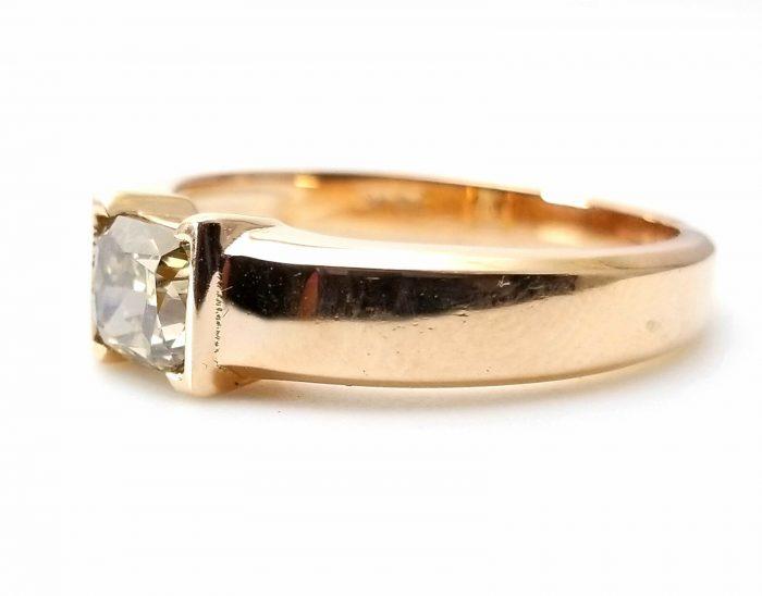 Whiskey Diamond Mens Unisex Ring 108ct Natural Fancy Brown GIA 18K Rose Gold 264274423596 4 700x548 - Whiskey Diamond - Men's Unisex Ring 1.08ct Natural Fancy Brown GIA 18K Rose Gold