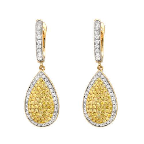 116ct Fancy Yellow Diamonds Earrings 18K All Natural 6 Grams Real Gold Canary 253713569087 - 1.16ct Fancy Yellow Diamonds Earrings 18K All Natural 6 Grams Real Gold Canary