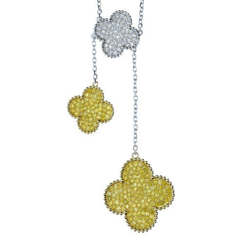 258ct Fancy Canary Yellow Diamonds Necklace 18K All Natural 15 Grams Real Gold 263781428857 2 - 2.58ct Fancy Canary Yellow Diamonds Necklace 18K All Natural 15 Grams Real Gold