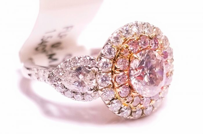 263ct Natural Fancy Light Pink Engagement Ring GIA Round 18K Multi Tone Gold 253713569037 3 700x464 - 2.63ct Natural Fancy Light Pink Engagement Ring GIA Round 18K Multi Tone Gold