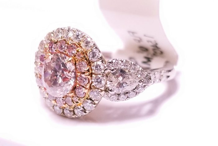 263ct Natural Fancy Light Pink Engagement Ring GIA Round 18K Multi Tone Gold 253713569037 700x470 - 2.63ct Natural Fancy Light Pink Engagement Ring GIA Round 18K Multi Tone Gold