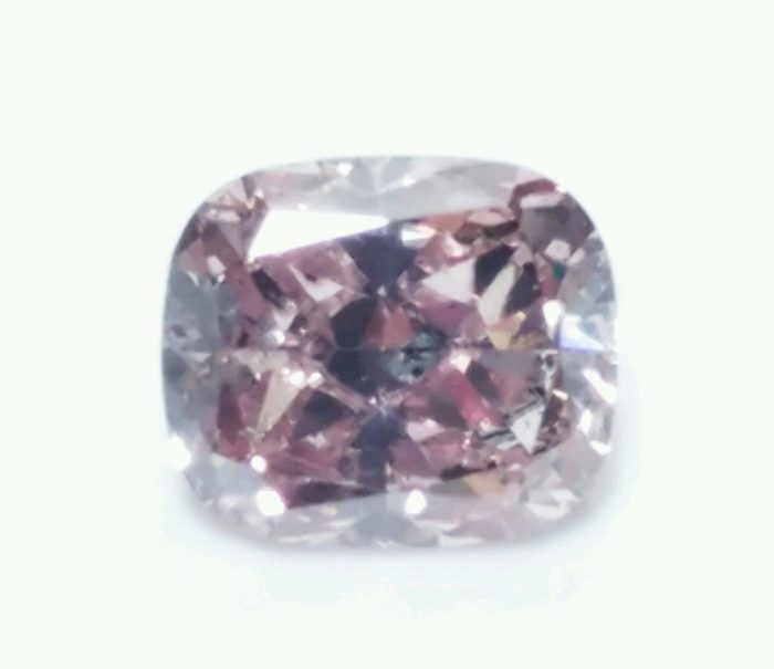 Pink Diamond 024ct Natural Loose Fancy Pink Purple Diamond Cushion Cut SI2 253693729957 700x605 - Pink Diamond - 0.24ct Natural Loose Fancy Pink Purple Diamond Cushion Cut SI2