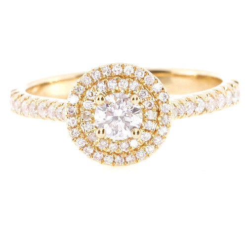 Real 070ct Natural Fancy Pink Diamonds Engagement Ring 18K Solid Gold Round 263762585627 - Real 0.70ct Natural Fancy Pink Diamonds Engagement Ring 18K Solid Gold Round