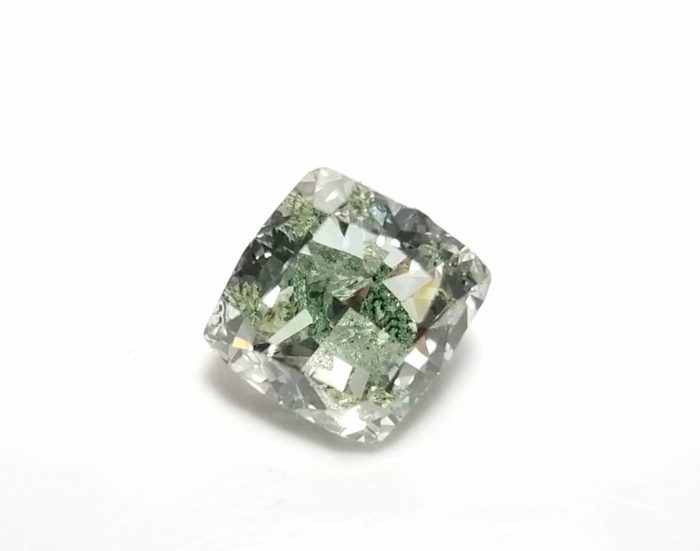 Real 142ct Natural Loose Fancy Green Color Cushion Diamond GIA SI Rare and Big 253750187817 4 700x551 - Real 1.42ct Natural Loose Fancy Green Color Cushion Diamond GIA SI Rare and Big