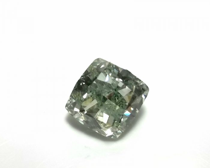 Real 142ct Natural Loose Fancy Green Color Cushion Diamond GIA SI Rare and Big 253750187817 700x560 - Real 1.42ct Natural Loose Fancy Green Color Cushion Diamond GIA SI Rare and Big