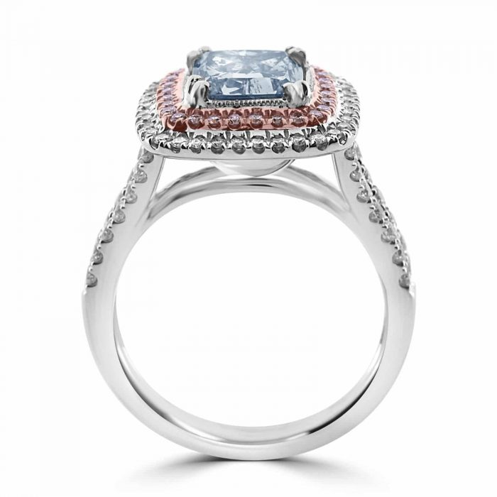 Real GIA 275ct Natural Fancy Light Blue Pink Diamonds Engagement Ring 18K 263917379417 3 700x700 - GIA 2.75ct Natural Fancy Light Blue Pink Diamonds Engagement Ring 18K