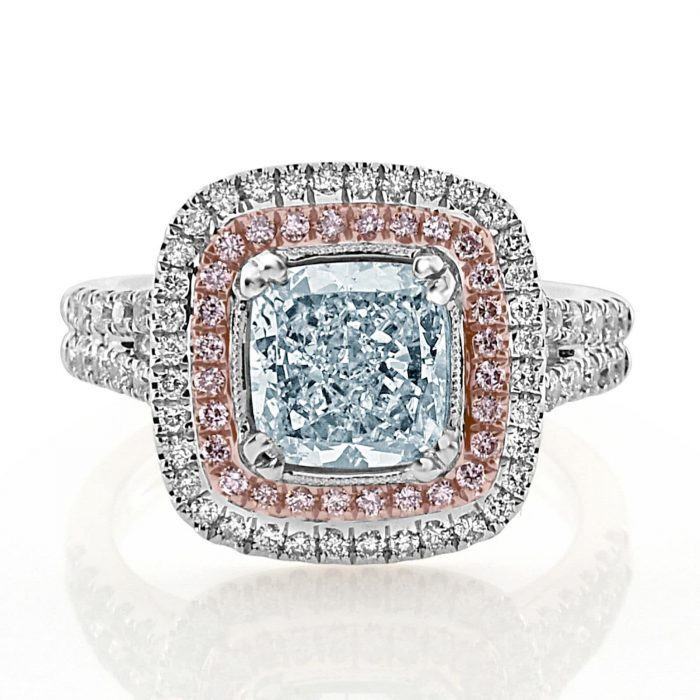 Real GIA 275ct Natural Fancy Light Blue Pink Diamonds Engagement Ring 18K 263917379417 700x700 - GIA 2.75ct Natural Fancy Light Blue Pink Diamonds Engagement Ring 18K