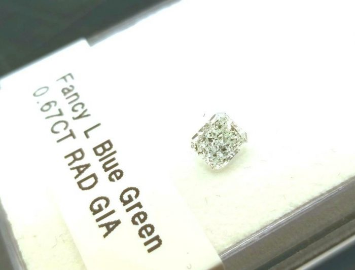 067ct Green Diamond Natural Loose Fancy Light Blue Green GIA Radiant SI1 253693729908 700x533 - 0.67ct Green Diamond - Natural Loose Fancy Light Blue Green GIA Radiant SI1