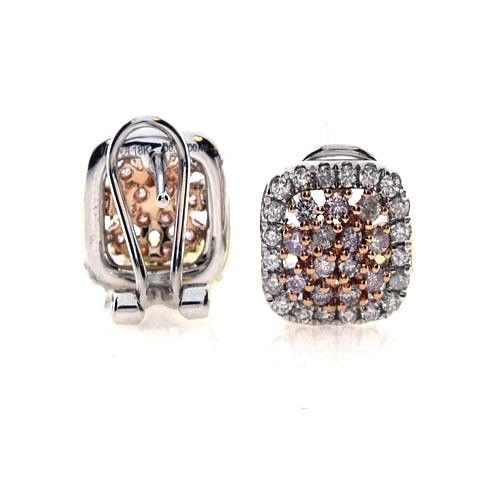 091ct Fancy Intense Pink Diamonds Earrings 18K All Natural 4 Grams White Gold 263781430178 2 - 0.91ct Fancy Intense Pink Diamonds Earrings 18K All Natural 4 Grams White Gold