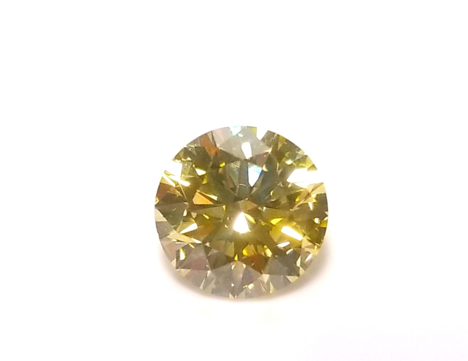 1.20ct Yellow Diamond - Natural Loose Fancy Greenish Yellow Color GIA Round SI1