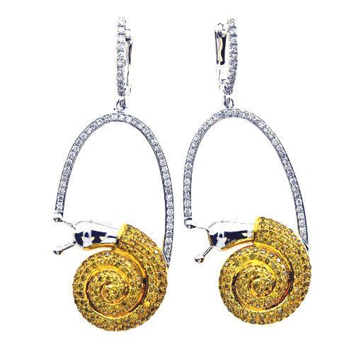 172ct Fancy Yellow Diamonds Earrings 18K All Natural 11 Grams Real Gold Canary 253713569068 - 1.72ct Fancy Yellow Diamonds Earrings 18K All Natural 11 Grams Real Gold Canary