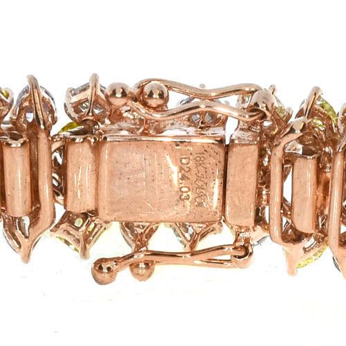 Pink Diamonds Bracelet 245ct Natural Fancy Pink Yellow Mix Color 18K 49 Grams 263781428858 3 - Pink Diamonds - Bracelet 24.5ct Natural Fancy Pink Yellow Mix Color 18K 49 Grams