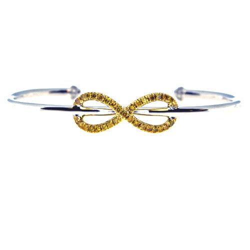 Real 076ct Natural Fancy Yellow Diamonds Bracelet Bangle 18K Solid Gold 15G 263738747968 - Real 0.76ct Natural Fancy Yellow Diamonds Bracelet Bangle 18K Solid Gold 15G