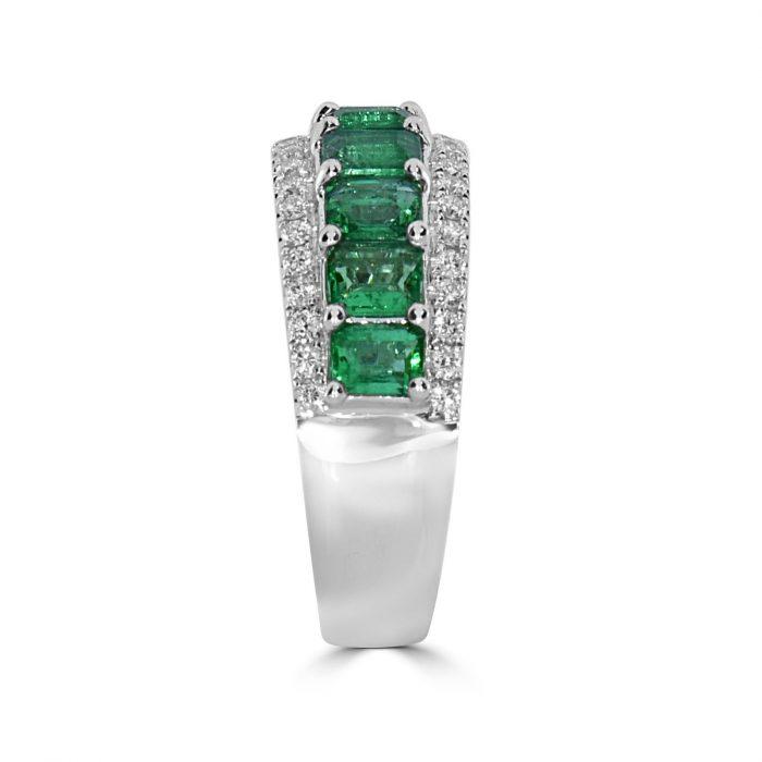 Real 213ct Natural Green Emerald Diamonds Engagement Ring 18K Solid Gold 263909790888 2 700x700 - Real 2.13ct Natural Green Emerald & Diamonds Engagement Ring 18K Solid Gold