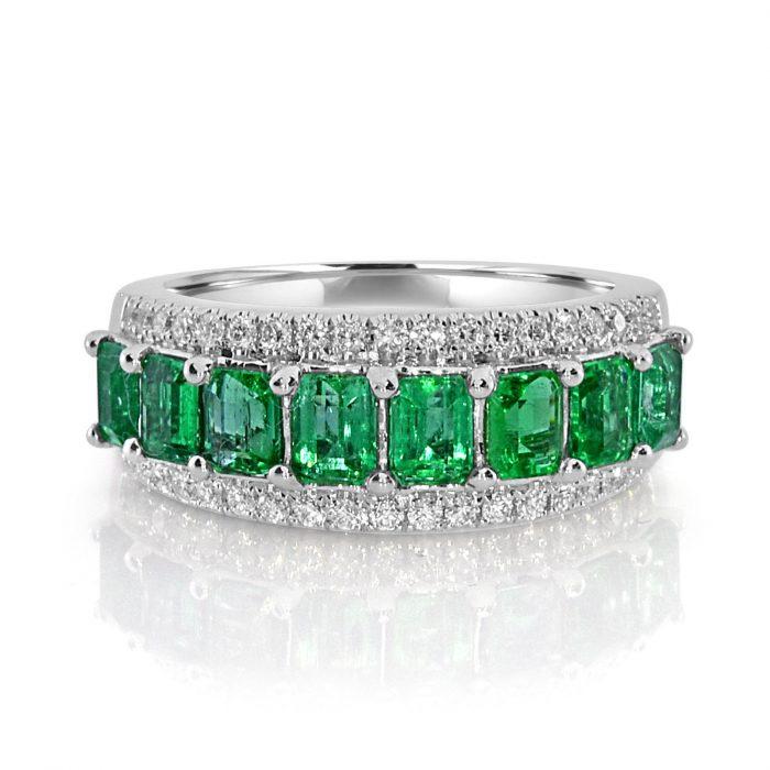 Real 213ct Natural Green Emerald Diamonds Engagement Ring 18K Solid Gold 263909790888 700x700 - Real 2.13ct Natural Green Emerald & Diamonds Engagement Ring 18K Solid Gold
