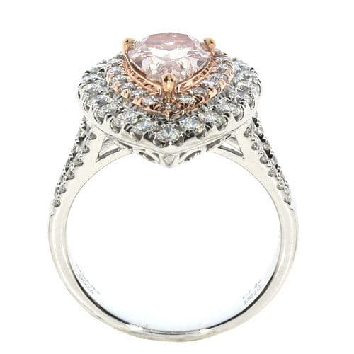 Real GIA 2.15ct Natural Faint Pink Diamond Engagement Ring 18K
