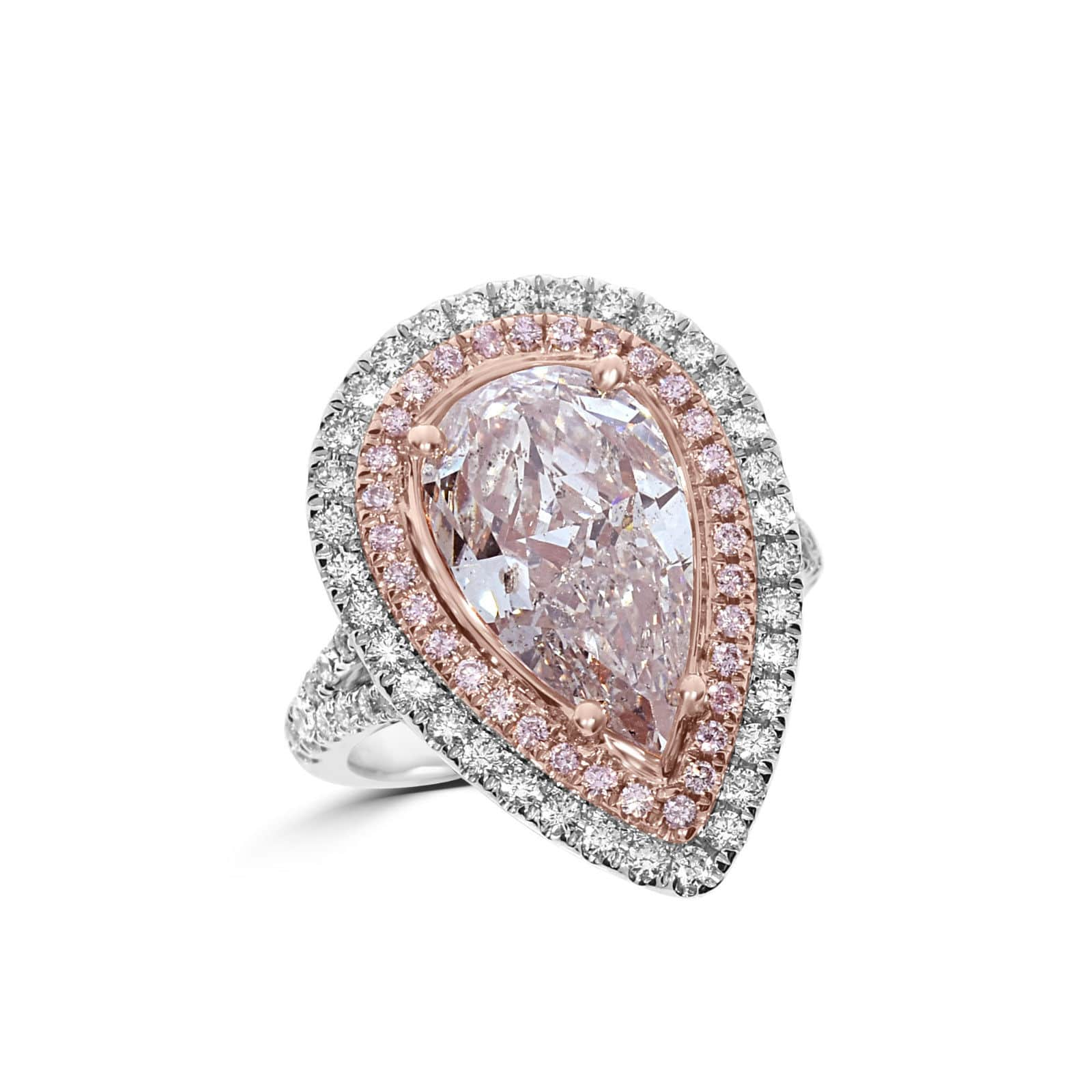 Real GIA 604ct Natural Fancy Very Light Pink Diamonds Engagement Ring 18K Pear 263917387098 - Home