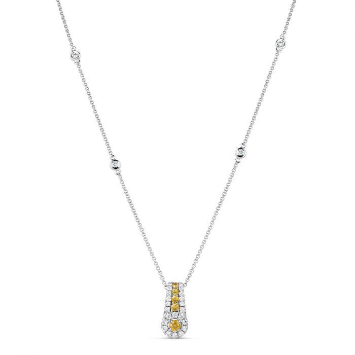 Yellow Diamond Necklaces Pendant 078ct Natural Fancy Yellow Diamonds 18K 253693729928 700x700 - Yellow Diamond - Necklaces & Pendant 0.78ct Natural Fancy Yellow Diamonds 18K