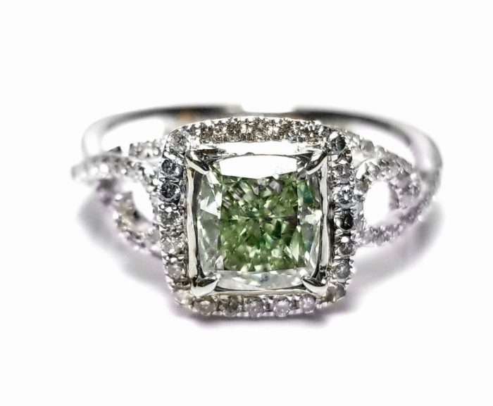 173ct Natural Fancy Green Diamond Engagement Ring GIA 18K White Gold Cushion 264051652389 3 700x577 - 1.73ct Natural Fancy Green Diamond Engagement Ring GIA 18K White Gold Cushion