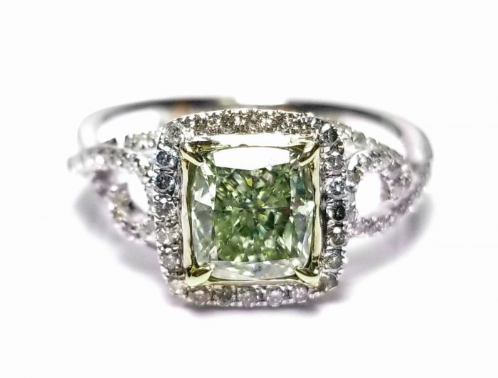 173ct Natural Fancy Green Diamond Engagement Ring GIA 18K White Gold Cushion 264051652389 700x531 - 1.73ct Natural Fancy Green Diamond Engagement Ring GIA 18K White Gold Cushion
