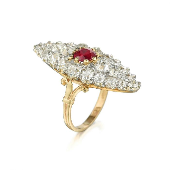 400ct GIA Burma Antique EF Natural Unheated Red Ruby Old Diamonds Ring 18K 264479806239 2 700x700 - 4.00ct GIA Burma Antique EF Natural Unheated Red Ruby & Old Diamonds Ring 18K