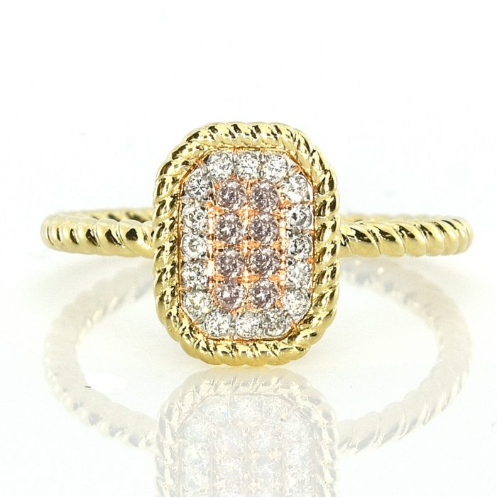 Real 019ct Natural Pink Purple Color Diamond Engagement Ring Radiant 18K VS SI 263744165849 700x700 - Real 0.19ct Natural Pink Purple Color Diamond Engagement Ring Radiant 18K VS-SI
