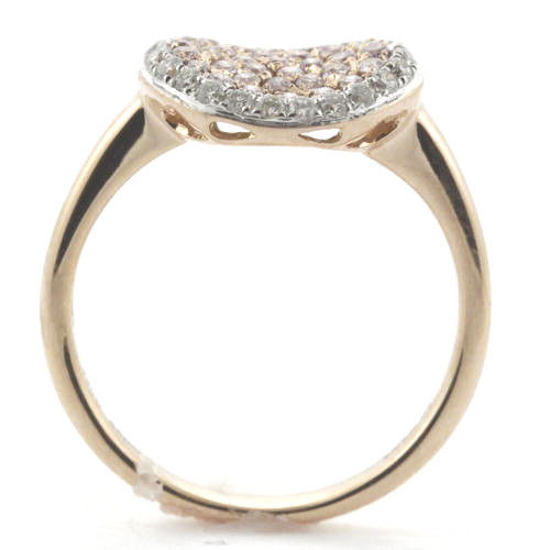 Real 078ct Natural Fancy Pink Diamonds Engagement Ring 18K Solid Gold 5G 253676205219 3 - Real 0.78ct Natural Fancy Pink Diamonds Engagement Ring 18K Solid Gold 5G