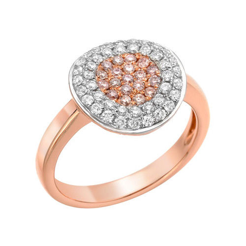 Real 078ct Natural Fancy Pink Diamonds Engagement Ring 18K Solid Gold 5G 253676205219 - Real 0.78ct Natural Fancy Pink Diamonds Engagement Ring 18K Solid Gold 5G
