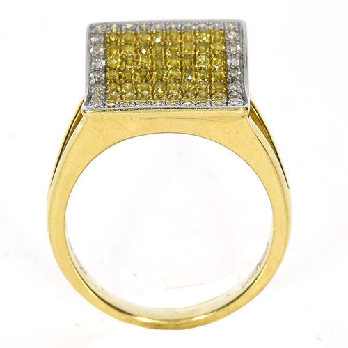 Real 109ct Natural Fancy Yellow Diamonds Engagement Ring 18K Solid Gold 6G 253670742409 3 - Real 1.09ct Natural Fancy Yellow Diamonds Engagement Ring 18K Solid Gold 6G
