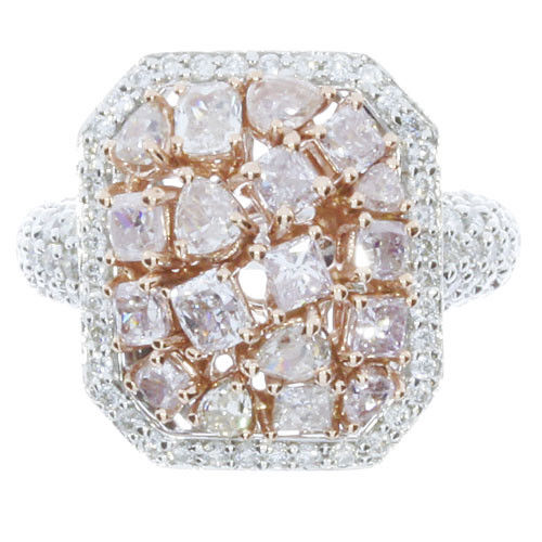 Real 308ct Natural Fancy Pink Diamonds Engagement Ring 18K Solid Gold 8G 263744165859 2 - Real 3.08ct Natural Fancy Pink Diamonds Engagement Ring 18K Solid Gold 8G