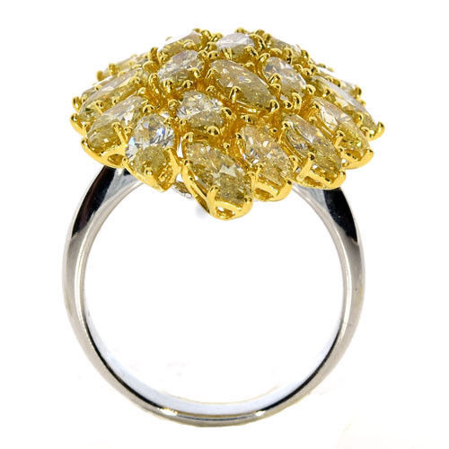 Real 615ct Natural Fancy Yellow Diamonds Engagement Ring 18K Solid Gold 8G 263744165889 3 - Real 6.15ct Natural Fancy Yellow Diamonds Engagement Ring 18K Solid Gold 8G